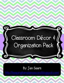 Classroom Decor and Organization Pack (Light)