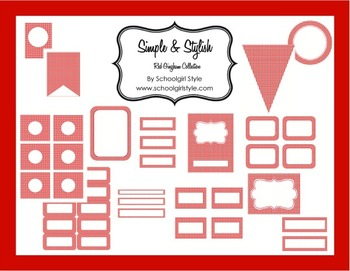 Classroom Decor and Organization Red Gingham