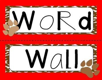 Classroom Decor (dog theme)