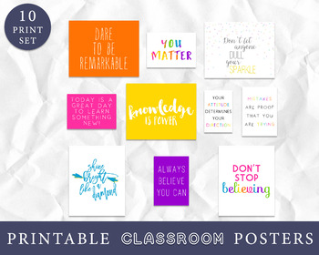 Classroom Decor for Bulletin Boards, Inspirational Kids Art