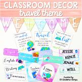 Classroom Decor Travel Theme | EDITABLE