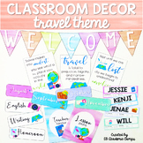 Classroom Decor Travel Theme | EDITABLE