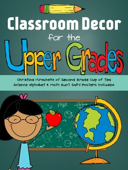 Classroom Decor for the Upper Grades: Simple, Clean, & Colorful