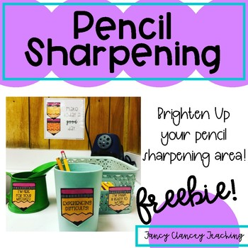 Classroom Decor for your Pencil Sharpening Area