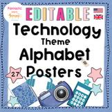 Classroom Decor: technology alphabet posters