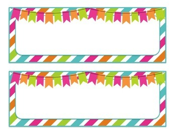 Classroom Decor Bundle with Brights, Chevron, and Polka Dots