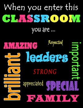 Classroom Decor/Sign Poster