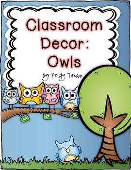 Classroom Decor_Owls
