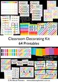 Classroom Decorating Kit Printables Rainbow Organization