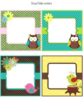 Classroom Decoration Bundle (Owl Theme)