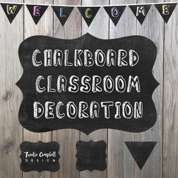 Classroom Decoration: Chalkboard Banner/Frame