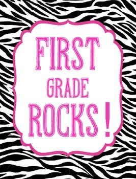 Classroom Decor (Chalkboard, Hot Pink, and Zebra Print)