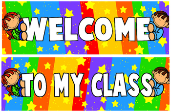 Classroom Decoration Kids Welcome Banner and Borders