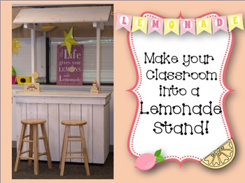 Classroom Decoration Mega Bundle Lemonade Stand Theme-Editable!