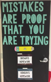 Classroom Decoration: Mistake Are Proof That You Are Trying