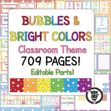 Classroom Decoration & Organization Theme Pack - Bright & Bubbles