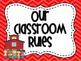 Classroom Decoration Pack- Rainbow Colors Chevron