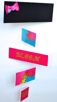 Classroom Decoration-  Personalized Mobile - Pink, Teal and Green
