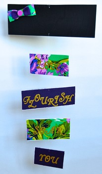 Classroom Decoration-  Personalized Mobile - Purple and Gold