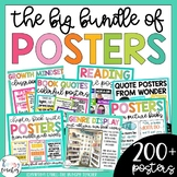Classroom Decoration Posters {Bundle of Quote, Growth Mindset, & Genre Posters}