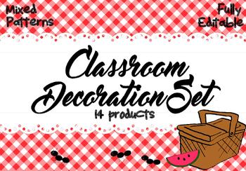 Classroom Decoration Set - Pretty Picnic Theme