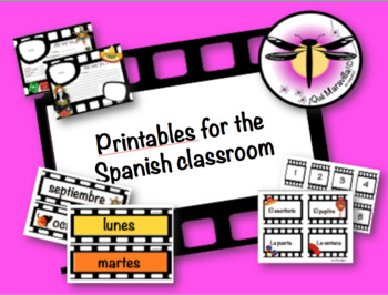 Classroom Decoration for the Spanish classroom