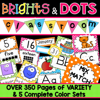 Classroom Decorations Alphabet Posters Number Labels Polka Dots