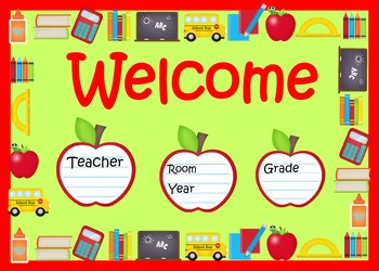 Class Decor Charts Timetable Certificates Name Tags More
