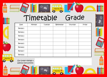Class Decor - Charts - Timetable, Certificates, Name tags & more....