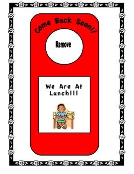 Classroom Decorations-Door Hanger Signs Color-Freebie!