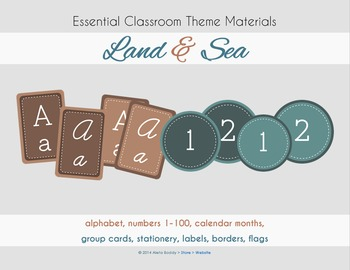 Classroom Decorations - Earth Tones Theme Pack