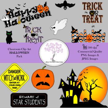 Classroom Clip Art Halloween Pack