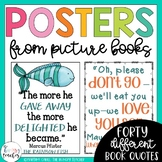 Classroom Decorations: Inspirational Character Quote Posters from Picture Books