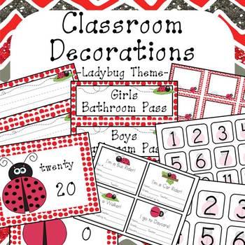 Classroom Decorations Ladybug Theme