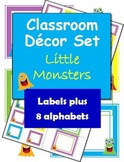 Classroom Decorations: Little Monsters Labels, Name Plates and Alphabets