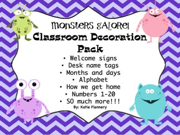 Classroom Decorations - Monster Theme
