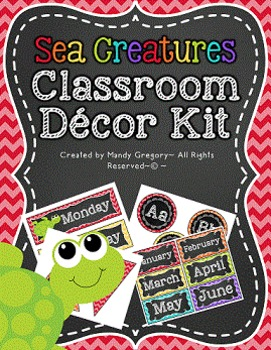 Classroom Decorations (Sea Creatures Theme)