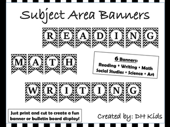 Classroom Decorations - Subject Area Banners