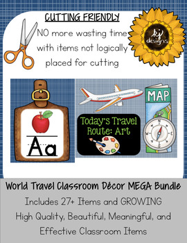 Classroom Decor World Travel