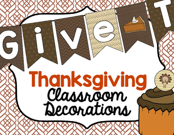 Classroom Decorations for Thanksgiving