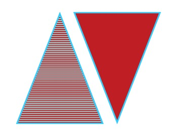 Classroom Decorative Banner Pennants Red and Aqua Turquoise