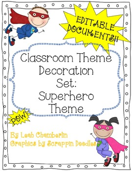 Classroom Decorative Set Superhero Theme