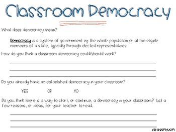 Classroom Democracy Questionnaire