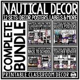 Sailing & Nautical Theme Classroom Decor Editable- Nautica