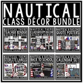 Sailing & Nautical Theme Classroom Decor Editable- Nautica