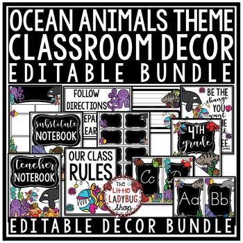 Teal Classroom Decor  [Teal and Chalkboard Class Decor Bundle]