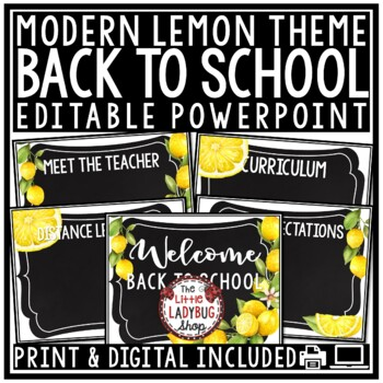 Yellow Theme Classroom Decor- Editable [Chevron & Chalkboard Style]