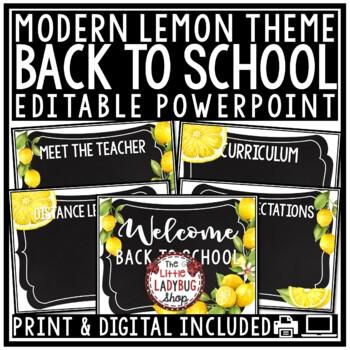 Lemon Classroom Decor: Newsletter Template Editable Farmhouse Classroom Decor
