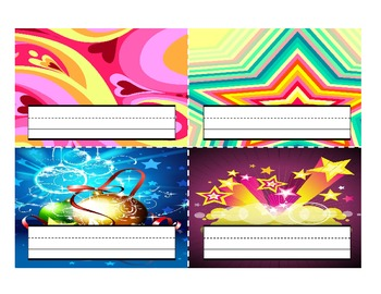 Classroom Desktop Name tag Nameplate Collection - 32 Full-Color Designs