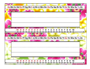 Classroom Desktop Name tag Nameplate Collection - numbers letters 20 designs